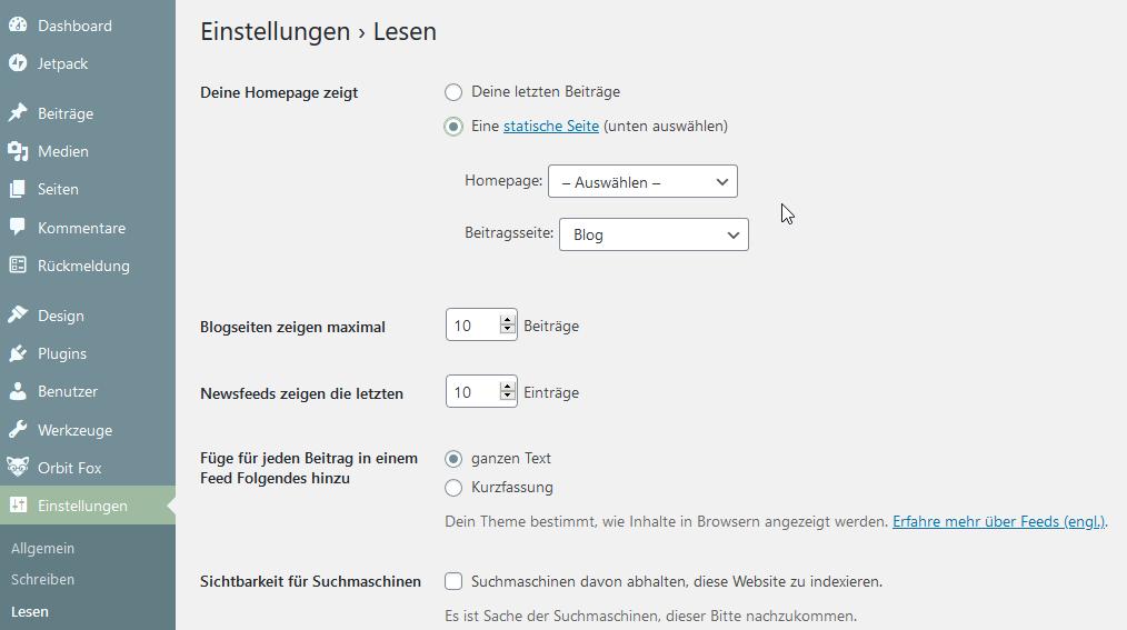 wie möchtest du WordPress nutzen