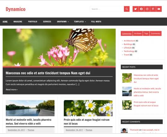 Blog erstellen mit einem fertigen Theme